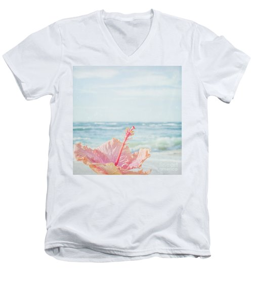 Men's V-Neck T-Shirt featuring the photograph The Blue Dawn by Sharon Mau