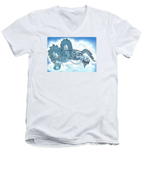 The Blue Dragon Men's V-Neck T-Shirt