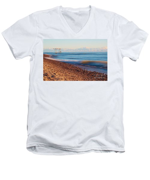 The Boat Hoist Men's V-Neck T-Shirt by Patrick Shupert