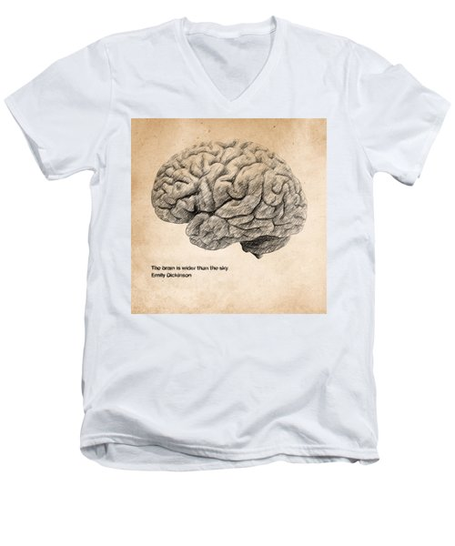 The Brain Is Wider Than The Sky Men's V-Neck T-Shirt
