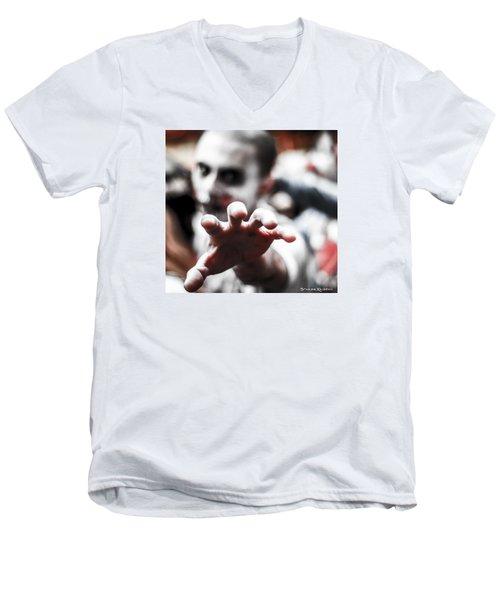 Men's V-Neck T-Shirt featuring the photograph The Brain Snatcher by Stwayne Keubrick