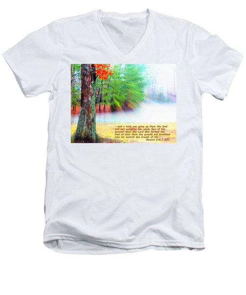 The Breath Of Life Men's V-Neck T-Shirt