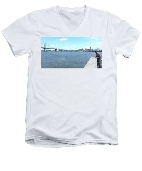 The Bridge And The River Men's V-Neck T-Shirt