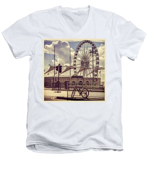 Men's V-Neck T-Shirt featuring the photograph The Brighton Wheel by Chris Lord