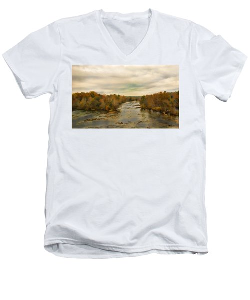 The Broad River Men's V-Neck T-Shirt
