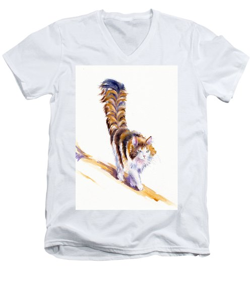 The Calico Cat That Walked By Himself Men's V-Neck T-Shirt