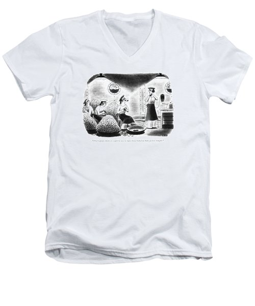 The Captain Thinks It Would Be Nice Men's V-Neck T-Shirt
