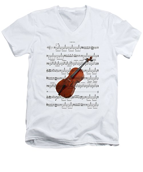 The Cello Men's V-Neck T-Shirt