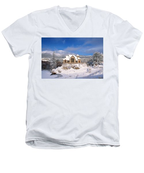 The Chapel On The Rock 3 Men's V-Neck T-Shirt