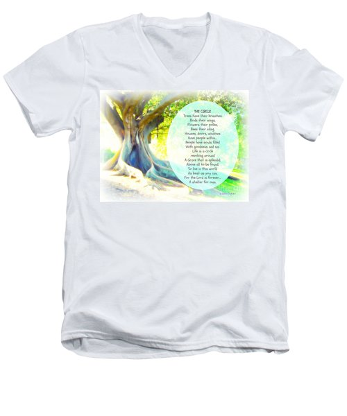 Men's V-Neck T-Shirt featuring the photograph The Circle by Leanne Seymour