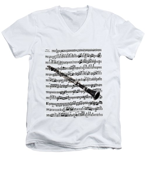 The Clarinet Men's V-Neck T-Shirt