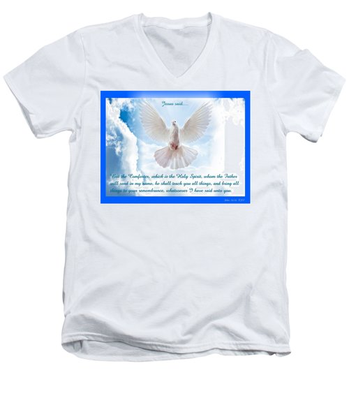 The Comforter Men's V-Neck T-Shirt by Terry Wallace