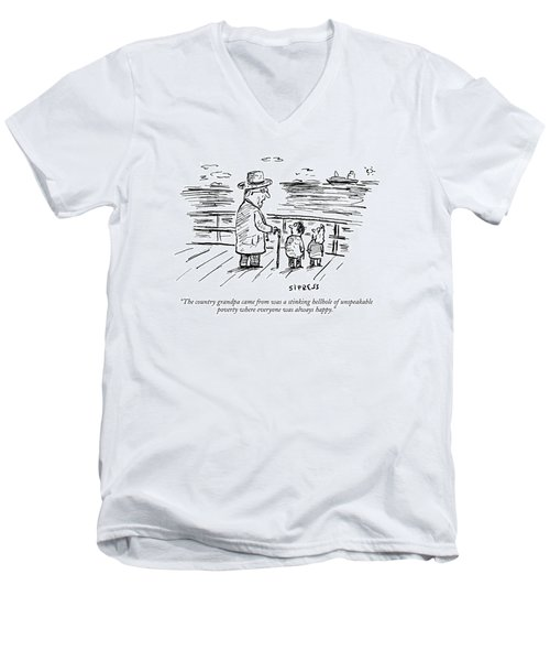 The Country Grandpa Came From Was A Stinking Men's V-Neck T-Shirt