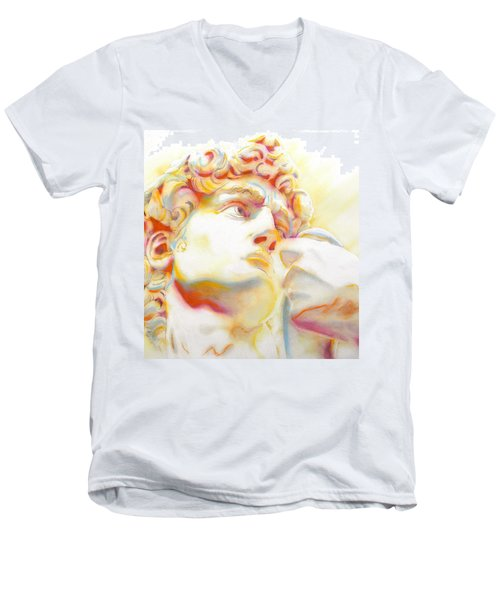 The David By Michelangelo. Tribute Men's V-Neck T-Shirt
