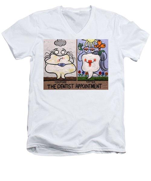The Dentist Appointment Dental Art By Anthony Falbo Men's V-Neck T-Shirt