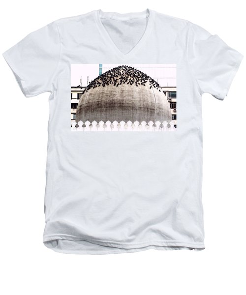 Men's V-Neck T-Shirt featuring the photograph The Dome Of The Mosque by Ethna Gillespie
