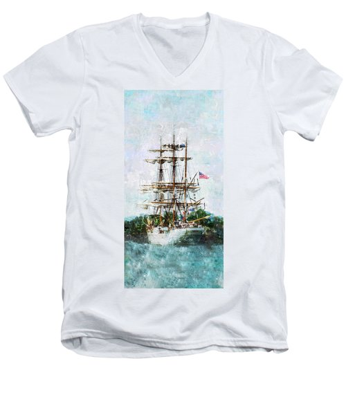 Tall Ship Eagle Has Landed Men's V-Neck T-Shirt