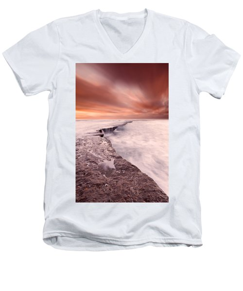The Edge Of Earth Men's V-Neck T-Shirt