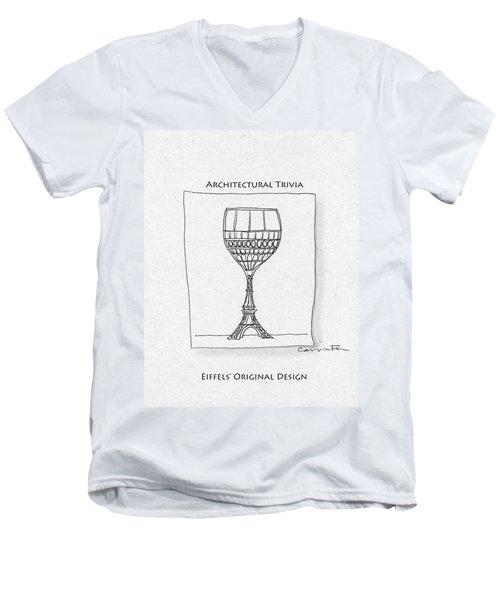 The Eiffel Tower Men's V-Neck T-Shirt