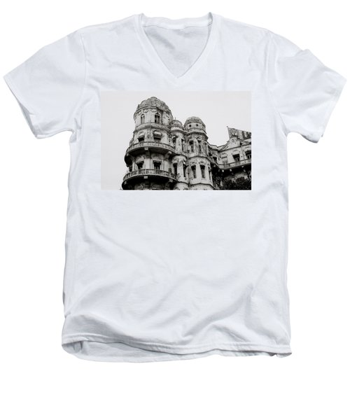 The Esplanade Mansions Men's V-Neck T-Shirt