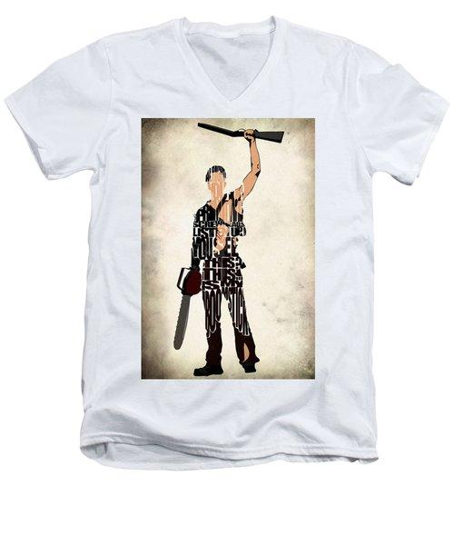 The Evil Dead - Bruce Campbell Men's V-Neck T-Shirt