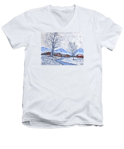 The Farm Life Men's V-Neck T-Shirt by Connie Valasco