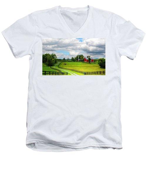 The Farm Men's V-Neck T-Shirt by Ronda Ryan