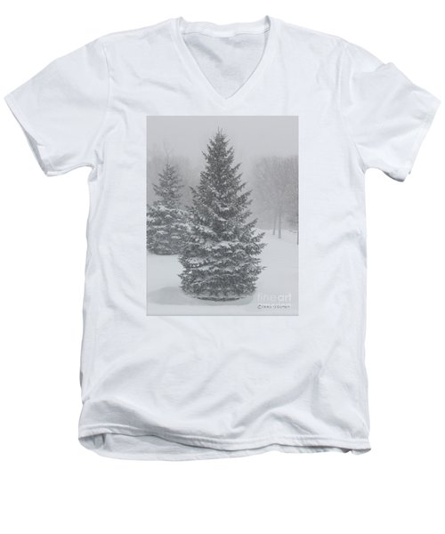 The First Snow Of Christmas Men's V-Neck T-Shirt