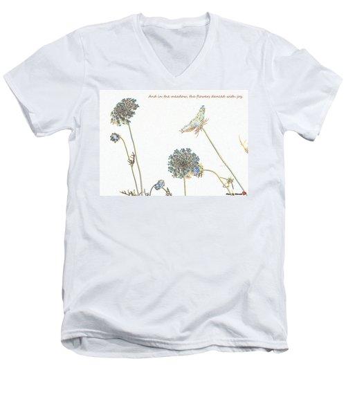 The Flowers Danced Men's V-Neck T-Shirt