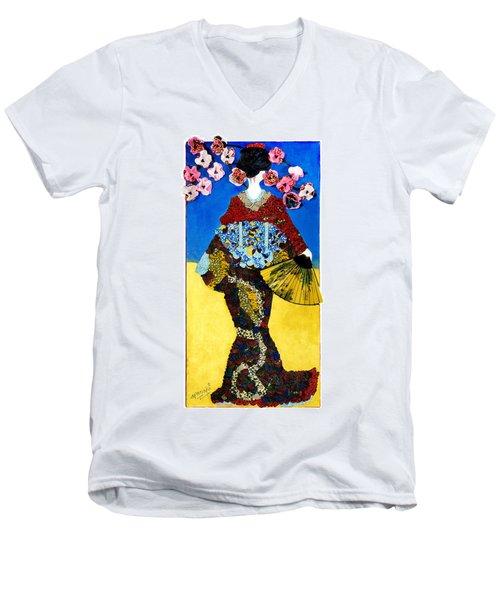 The Geisha Men's V-Neck T-Shirt