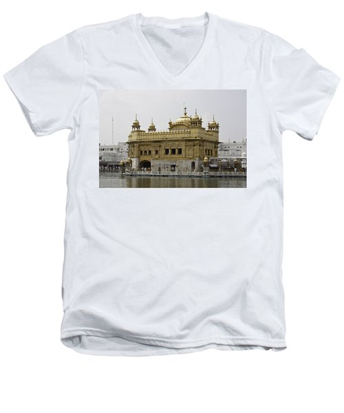 The Golden Temple In Amritsar Men's V-Neck T-Shirt by Ashish Agarwal