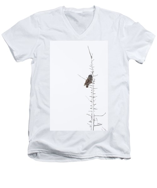 The Grey Hunter On White Men's V-Neck T-Shirt