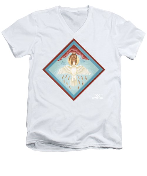 The Holy Spirit The Lord The Giver Of Life The Paraclete Sender Of Peace 093 Men's V-Neck T-Shirt