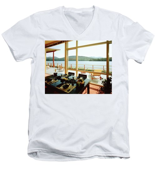 The House Of Mr. And Mrs. Alfred Rose On Lake Men's V-Neck T-Shirt