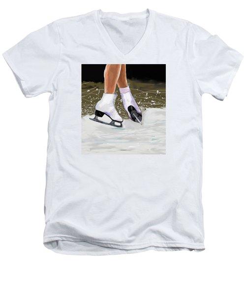 The Jump Men's V-Neck T-Shirt by Jeanne Fischer
