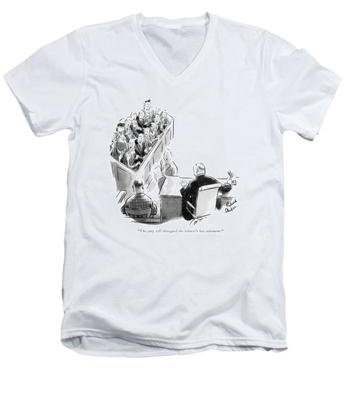 The Jury Will Disregard The Witness's Last Men's V-Neck T-Shirt