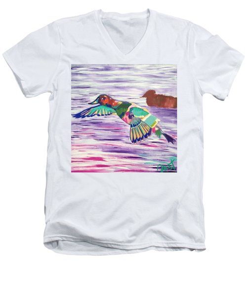 The King Canvasback Men's V-Neck T-Shirt