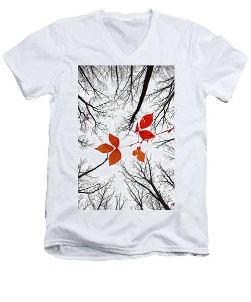 The Last Leaves Of November Men's V-Neck T-Shirt
