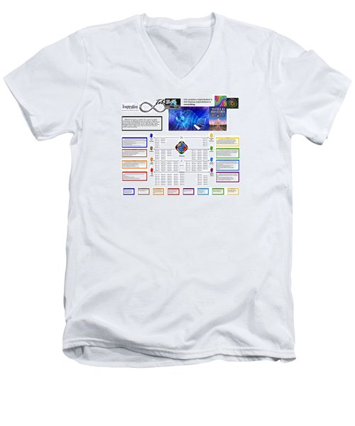Lightspeed Reading  Men's V-Neck T-Shirt by Peter Hedding