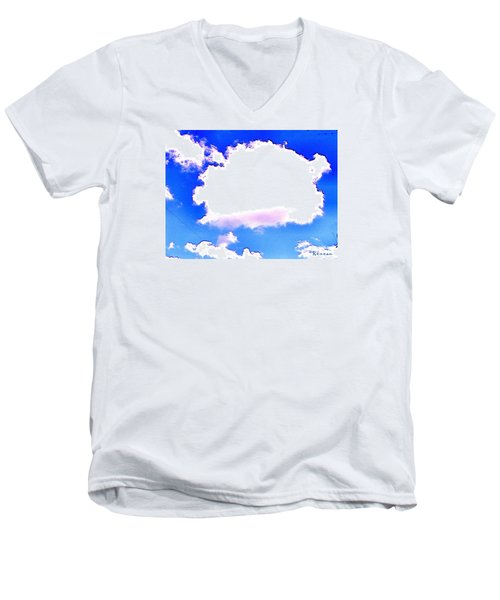 Men's V-Neck T-Shirt featuring the photograph The Little White Cloud That Cried by Sadie Reneau