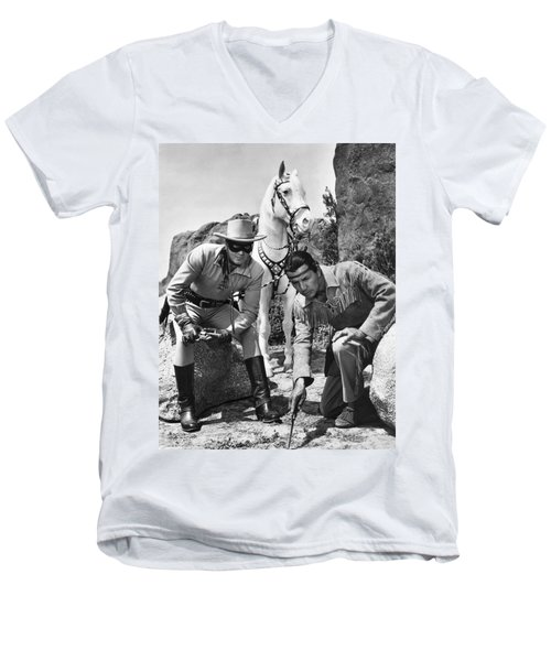 The Lone Ranger And Tonto Men's V-Neck T-Shirt