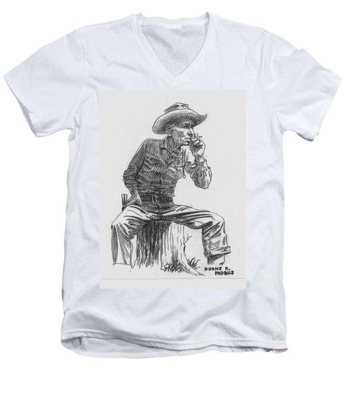 The Lookout Men's V-Neck T-Shirt by Duane R Probus