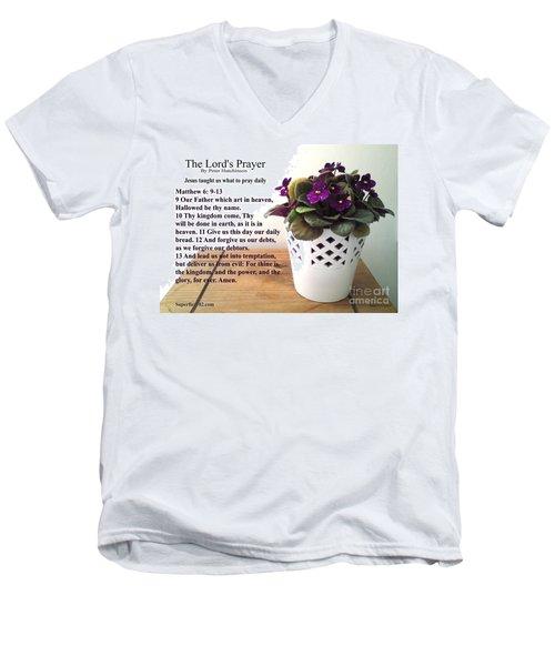 The Lords Prayer Men's V-Neck T-Shirt