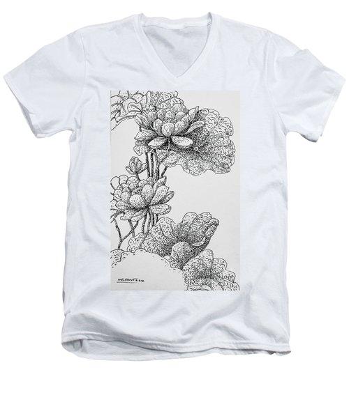 The Lotus Flower Men's V-Neck T-Shirt