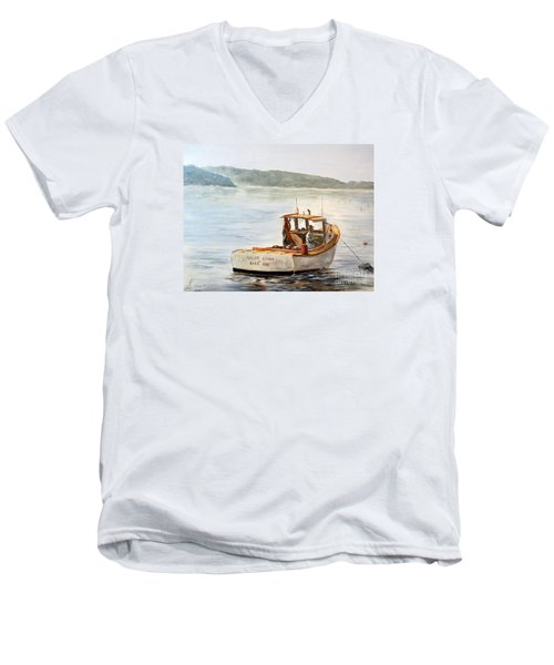 The Lyllis Esther Men's V-Neck T-Shirt by Lee Piper