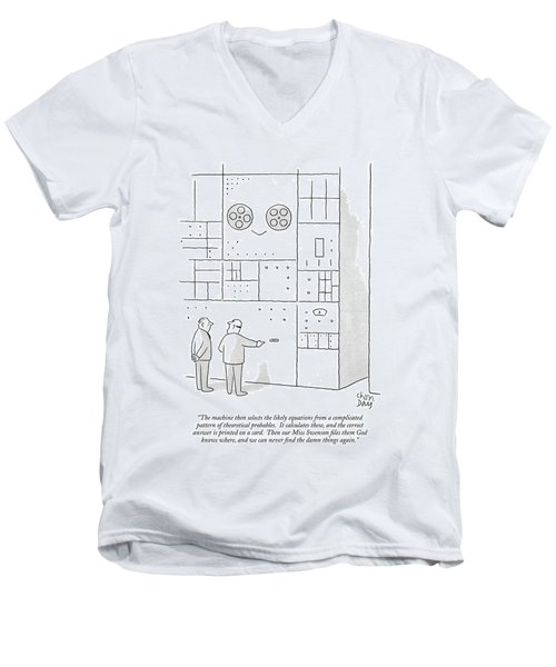 The Machine Then Selects The Likely Equations Men's V-Neck T-Shirt
