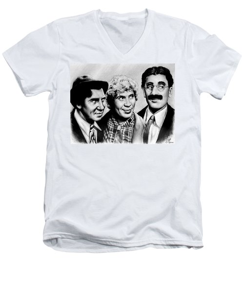 The Marx Brothers Men's V-Neck T-Shirt