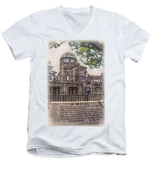 Men's V-Neck T-Shirt featuring the photograph The Memorial by Hanny Heim