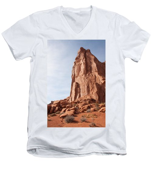 Men's V-Neck T-Shirt featuring the photograph The Monolith by John M Bailey