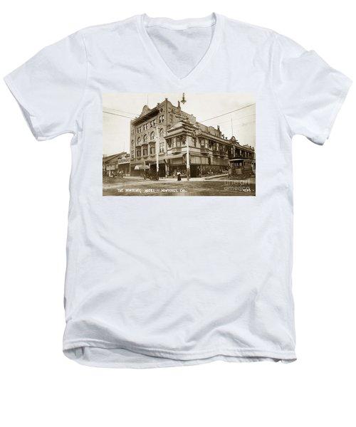 The Monterey Hotel 1904 The Goldstine Block Building 1906 Photo  Men's V-Neck T-Shirt
